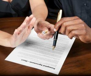 Чтобы брачный договор не стал причиной раздора